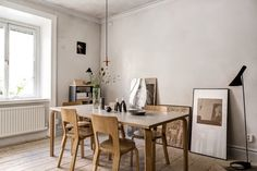 Kitchen with Artek chairs and table