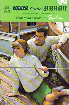 Patons Carfree Fisherman Knits, Sweater Knitting Patterns for The Whole Family, Aran Sweaters to Knit, Vintage Patons Book 119 by OnceUponAnHeirloom on Etsy Sweater Knitting Patterns, Knitting Designs, Knit Patterns, Vintage Patterns, Cable Sweater, Men Sweater, Aran Sweaters, Arran, Vintage Knitting