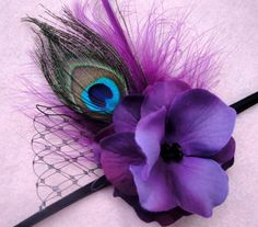 peacock headband, this would go great with my flower girl dresses!