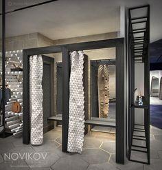 Changing rooms - Strabo Store concept by Novikov Designs www.novikovdesigns.co.uk