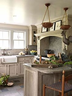 Another timeless bead board kitchen. That farmers sink is great! Love this kitchen!!!