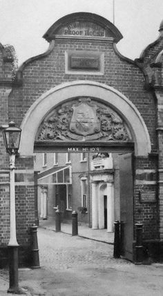 Archway at the Birmingham Gun Barrel Proof House in 1965.