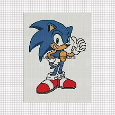 COZYCONCEPTS SONIC THE HEDGEHOG CROCHET PATTERN GRAPH AFGHAN EMAILED   CozyConcepts - Patterns on ArtFire