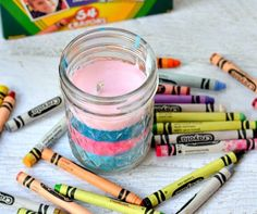 Day 18- Kids Summer Fun {Ideas & Activities} DIY Crayon Candles by Growing Up Gabel To see ALL 31 ideas click here! Help your kids make a fun and colorful candle! Then plan a backyard sleepover…