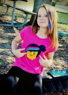 Lego Inspired Minifigure Shirt by ALifeEmbellished on Etsy, $18.00
