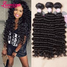 4 bundles curly on sale at reasonable prices, buy Hot ! Brazillian Deep Wave Brazilian Virgin Hair Deep Wave Brazilian Hair 4 Bundles Curly Weave Human Hair from mobile site on Aliexpress Now! Deep Wave Brazilian Hair, Brazilian Curly Hair, Brazillian Curly Weave, Indian Hairstyles, Weave Hairstyles, Cheap Hair Dye, Deep Curly Weave, Unice Hair, Virgin Hair