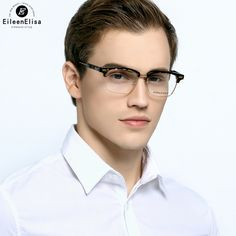 8cd77af63f5 EE Hot Optical Myopia Frame Glasses Men Brand Half Rimless Glasses Men  Glasses Frame Eyeglasses Frames For Men-in Eyewear Frames from Men s  Clothing ...