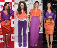 paarse jurk combineren