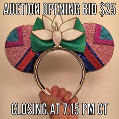 PLEASE read all provided information if you are participating in today's auction.  1. All ears will open with a $25 bid. I.e. The first person must bid $25 or more.  2. Bids must be made in $1 increments. Example: $25 26 27 - NOT $25.50 etc... 3. Serious participants only please- if you have no intention of purchasing the item please DO NOT bid. False bidders will be blocked from all future sales/auctions.  4. The HIGHEST bid will win the item- this is sometimes not always the last comment…