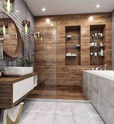 21 Modern And Stylish Bathroom Design Ideas Contemporary Bathroom Designs, Bathroom Design Luxury, Modern Bathroom Design, Bedroom Modern, Bad Inspiration, Bathroom Inspiration, Bathroom Renos, Small Bathroom, Bathroom Goals