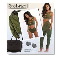 """""""RickiBrazil.com"""" by monmondefou ❤ liked on Polyvore featuring Givenchy, Linda Farrow and rickibrazil"""