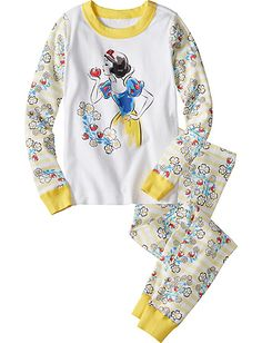 Disney Snow White Stripe Long John Pajamas from #HannaAndersson.