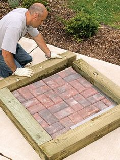 to Install Timber and Brick Steps Brick treads framed with landscape timbers make attractive steps between different levels in your yard.Brick treads framed with landscape timbers make attractive steps between different levels in your yard.