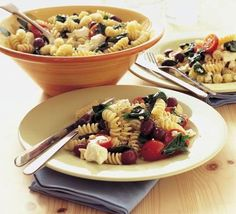 For a fresh idea with pasta, try Greek salad