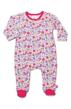 Infant Girl's Zutano Cotton One-Piece