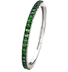 I want this ring!! And I'm def going to make myself one - Tsavorite white gold Eternity ring next to my white and black diamond eternity ring! Pass Present Future