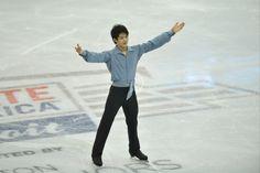 Oct 19, 2013; Detroit, MI, USA; Takahiko Kozuka of Japan competes during the mens free skate event at the 2013 Skate America figure skating competition at Joe Louis Arena. (David Richard-USA TODAY Sports) (1535×1024)