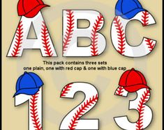 Soccer Alphabet Letters & Numbers Clip Art Graphics