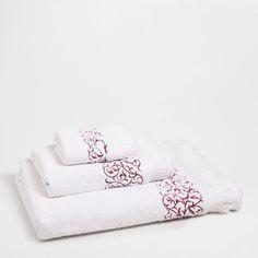 EMBROIDERED FRINGED COTTON TOWEL - Towels & Bathrobes - Bathroom   Zara Home Belgium