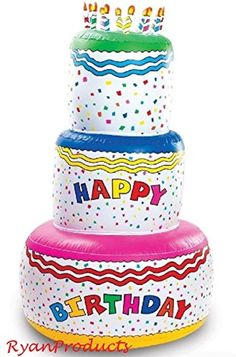 6ft Blow Up Inflatable Happy Birthday Cake Party Decoration -- Awesome products selected by Anna Churchill