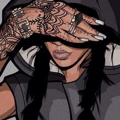 rihanna, art, and tattoo image
