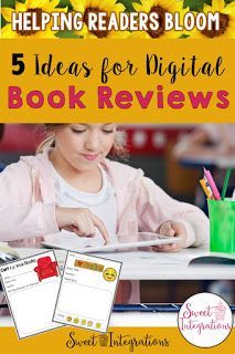Go paperless with these 5 ideas for Digital Book Reviews. I've joined friends from the Reading Crew to share ideas and FREE resources to help your students BLOOM in Reading. This is excellent for your 2nd, 3rd, 4th, and 5th grade students. {classroom, homeschool, reading, technology, second, third, fourth, fifth graders, home school, freebie} #DigitalBookReview #Reading Reading Lessons, Reading Resources, Reading Strategies, Teaching Reading, Classroom Resources, Teaching Tips, Classroom Ideas, 5th Grade Reading, 3rd Grade Classroom