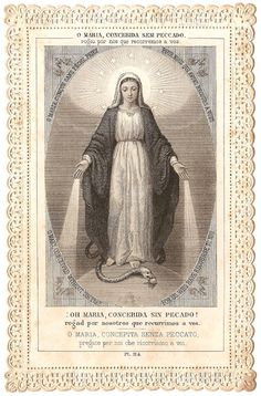 Miraculous Medal Engraving Antique French by 12StarsVintage