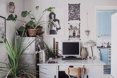 my working desk  #working space #vintage desk #bohemian home © Anna  Malmberg