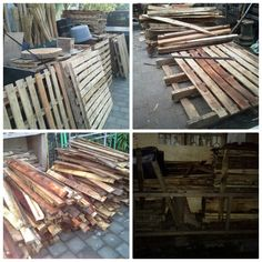 We just finished, resamble our new stock of pallet wood. Ready to make some new collection of wedding decoration.  For your information about our product and pricelist, contact us via;  FB; Bali Rustic Rental  Instagram : bali rustic rental Email : goesbayuputra@yahoo.com Wa : 089655355052  Ph : 081238076101