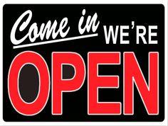 Please Come In Door Sign Open door ships horse