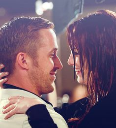 Ryan Gosling & Emma Stone. Why are they so beautiful together? haha. If I was her I'd have a hard time staying with Andrew Garfield, but he's cute too.
