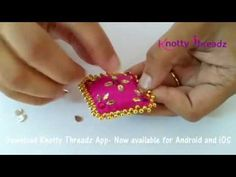 Sewing blouse diy fabrics Ideas for 2019 Silk Thread Bangles Design, Thread Jewellery, Fabric Jewelry, Hand Embroidery Videos, Hand Embroidery Designs, Beaded Embroidery, Embroidery Patches, Embroidery Patterns, Saree Tassels Designs