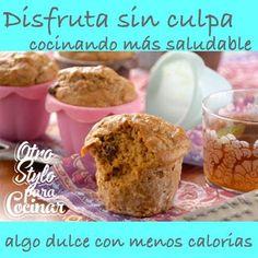 MUFFINS DE ZANAHORIA   Porciones: 12 Preparación: 1 hora Dificultad: fácil  • ¾ taza de crema half & half • 3 cucharadas de aceite • 1 cucharada de melaza • ¼ taza de Gerber de ciruela pasa • 1 huevo • 1 clara de huevo • 1 taza de zanahoria rallada • ¾ taza de harina integral • ¾ taza de harina • 1 taza de Splenda granulada ó algún sustituto de azúcar • 1 ½ cucharadita de bicarbonato de sodio • 1 cucharadita de polvo para hornear • 1 ½ cucharadita de canela en polvo • ½ cucharadita de All…