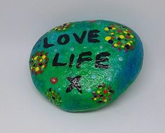 Love life quote handpainted pebble garden home  in Home, Furniture & DIY, Home Decor, Wall Decals & Stickers | eBay!