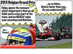 formula one cartoon images | Continental Circus: Formula 1 em Cartoons - GP Belgica (Thomson Studio ...