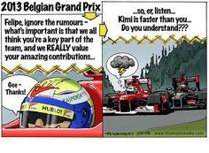 formula one cartoon images | Continental Circus: Formula 1 em Cartoons - GP Belgica (Thomson Studio ...