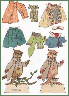 Ingrids Påklædningsdukker: Storskovens Dyr - Lærer Ugle