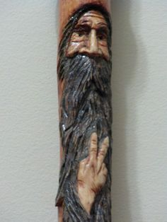 Wood Spirit Hiking Stick