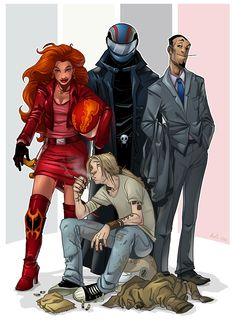 Riders of the Apocalypse by ~ChateNoire on deviantART from Neil Gaiman & Terry Pratchett's Good Omens