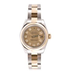 Pre-owned Rolex Women's Datejust Two-tone Oyster Diamond Dial Watch