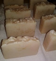 Custom order of soap scented with a custom blend and with gold flecks.