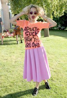 Rita Ora at the H loves music coachella party