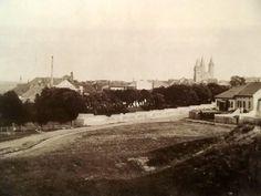 """návrší západně od města se nazývalo """"Paleček"""" F.Krátký r.1898"""