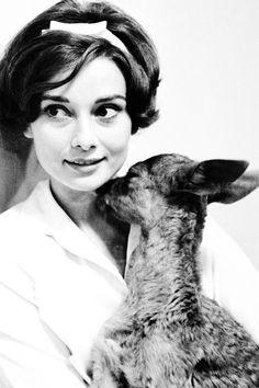 Audrey and her pet deer... ☆
