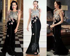 Celebrities Dita von Teese and Leighton Meester in Alexis Mabille  #luxury #modewalk #Paris