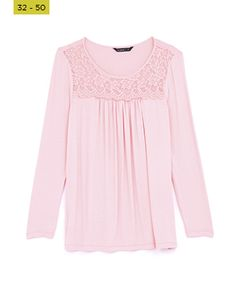 baby pink lace detail top