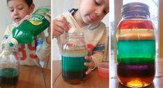 Vědecký experiment pro děti – jak vyčarovat duhu Science, Montessori, Create, Fimo