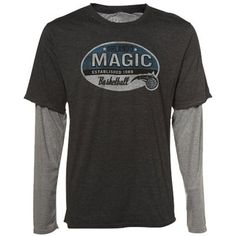 Sportiqe Orlando Magic Charcoal Rink Double Layer Long Sleeve Tri-Blend T-shirt