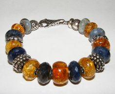SAPPHIRE HEAVEN!!!!  A beautiful combination of Trollbeads Sapphires and amber!!