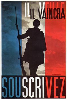 Cartel de propaganda Frances  - French propaganda poster - Segunda guerra mundial - Second World War - WWII